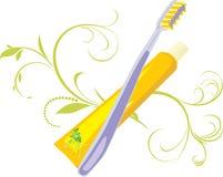 Zahnbürste und Paste Lizenzfreie Stockfotografie