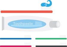 Zahnbürste und Zahnpasta stock abbildung
