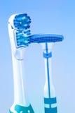 Zahnbürste- und Zungepinsel Lizenzfreies Stockfoto