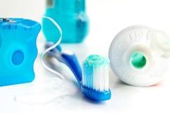Zahnbürste usw. Stockfotos