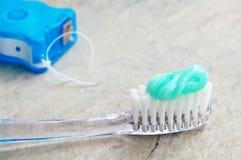 Zahnbürste usw. Lizenzfreie Stockfotografie