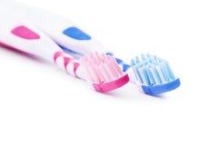 Zahnbürsten, seine und hers stockbilder