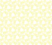 Zahnbürstenillustrationsgelb-Farbnahtloses Muster Vektor Abbildung