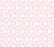 Zahnbürstenillustrationsrosa-Farbnahtloses Muster Stock Abbildung