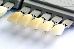 Zahnfarbenanleitung Lizenzfreie Stockbilder