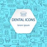 Zahnheilkunde- und Orthodontiemuster Lizenzfreie Stockfotografie