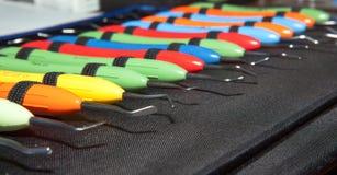 Zahnheilkunde, zahnmedizinische Werkzeuge, Medizin Lizenzfreie Stockfotos