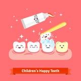 Zahnhygiene-Ikonensatz Stockbilder