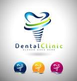 Zahnimplantat-Logo Lizenzfreies Stockfoto