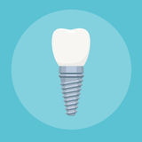 Zahnimplantatzeichen Stockbilder