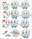 Zahnkarikatur stock abbildung