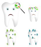 Zahnkeime und Bakterien Stockfotografie