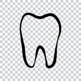 Zahnlogoikone für Zahnarzt oder Zahnpflegen der Stomatologie lizenzfreie abbildung