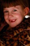 Zahnlos Lächeln-Mädchen Stockfotos