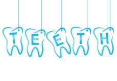 Zahnmedizinisch die Aufschriftzähne Stockbilder