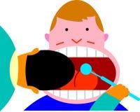 Zahnmedizinische Überprüfung lizenzfreie abbildung