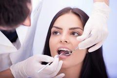 Zahnmedizinische Überprüfung lizenzfreies stockbild