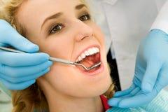 Zahnmedizinische Überprüfung Stockbilder