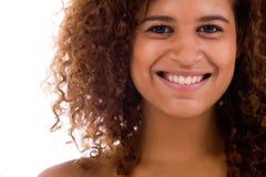 Zahnmedizinische afrikanische Frau Lizenzfreie Stockfotos