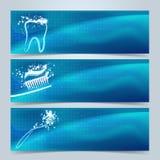 Zahnmedizinische Fahnen oder Websitetitelsatz Stock Abbildung