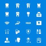 Zahnmedizinische flache Ikonen Stockbilder
