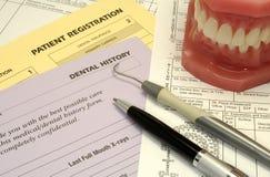 Zahnmedizinische Formulare lizenzfreies stockbild
