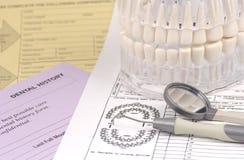 Zahnmedizinische Formulare Lizenzfreie Stockfotos