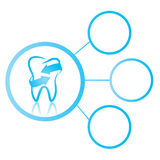 Zahnmedizinische Grafik Stockbild