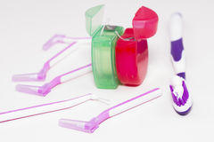 Zahnmedizinische Hygiene lizenzfreie stockbilder