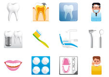 Zahnmedizinische Ikonen Stockbilder