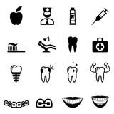 Zahnmedizinische Ikonen Stockfotos