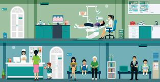 Zahnmedizinische Klinik Lizenzfreies Stockfoto