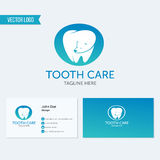 Zahnmedizinische Klinikvektorlogo-Zahnikone Lizenzfreie Stockbilder