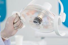 Zahnmedizinische Lampe Lizenzfreie Stockfotos
