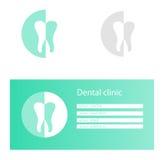 Zahnmedizinische Logoschablonen Lizenzfreie Stockfotos