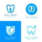Zahnmedizinische Logoschablonen Abstrakte Vektorzähne Lizenzfreie Stockbilder