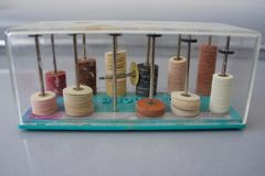 Zahnmedizinische oder Dremel versandende Disketten Stockbild