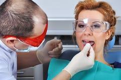 Zahnmedizinische Schiene lizenzfreies stockbild