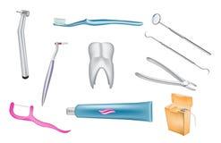 Zahnmedizinische Vektorillustrationen Stockfotos