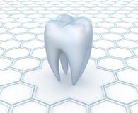 Zahnmedizinischer abstrakter Hintergrund Stockfoto