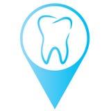 Zahnmedizinischer Aufkleber Stockfotos