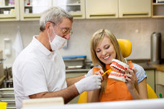 Zahnmedizinischer Besuch Stockfotos