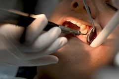 Zahnmedizinischer Check Stockfotos