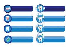 Zahnmedizinischer Fahnen-Satz Lizenzfreie Stockfotos