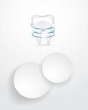Zahnmedizinischer infographics Hintergrund Lizenzfreies Stockbild