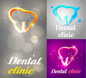 Zahnmedizinischer Logo Design Lizenzfreie Stockfotos