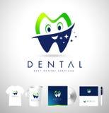 Zahnmedizinischer Logo Design Corporate Identiy Stockbild