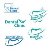 Zahnmedizinischer Logo Design Kreativer Zahnarzt Logo Vektor-Logo Dental Clinic Creative Company Stockfoto