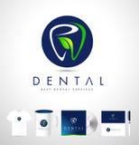 Zahnmedizinischer Logo Design Zahnarzt Logo Brand Identity Lizenzfreie Stockfotos