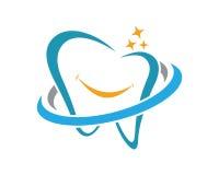 Zahnmedizinischer Logo Schablonenvektor Lizenzfreie Stockbilder